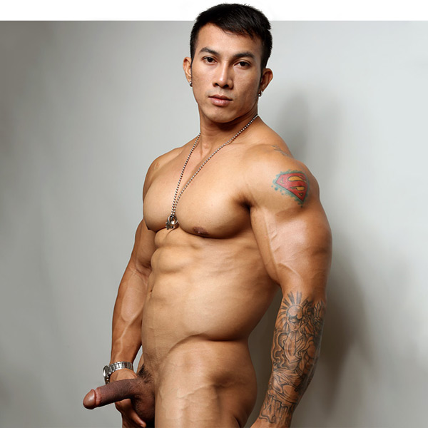 men muscle sexy male model cumception.